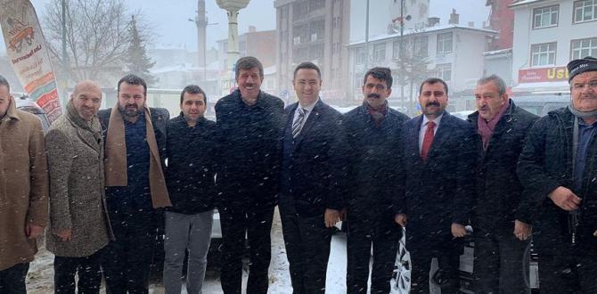 CHP  İL BAŞKAN ADAYI AKDOĞAN HAYMANA'YA GELDİ