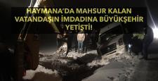 Haymana'da Mahsur Kalan Araç Kurtarıldı